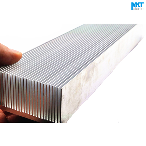 1Pcs 300x69x36W Pure Aluminum Cooling Fin Radiator Heat Sink