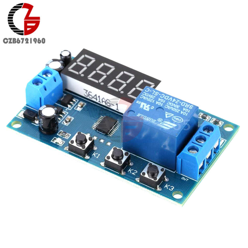Detail Feedback Questions About Dc 24v Led Digital Time Delay Relay Timer Switch Circuit Plc Cycle Trigger Control Anti Reverse