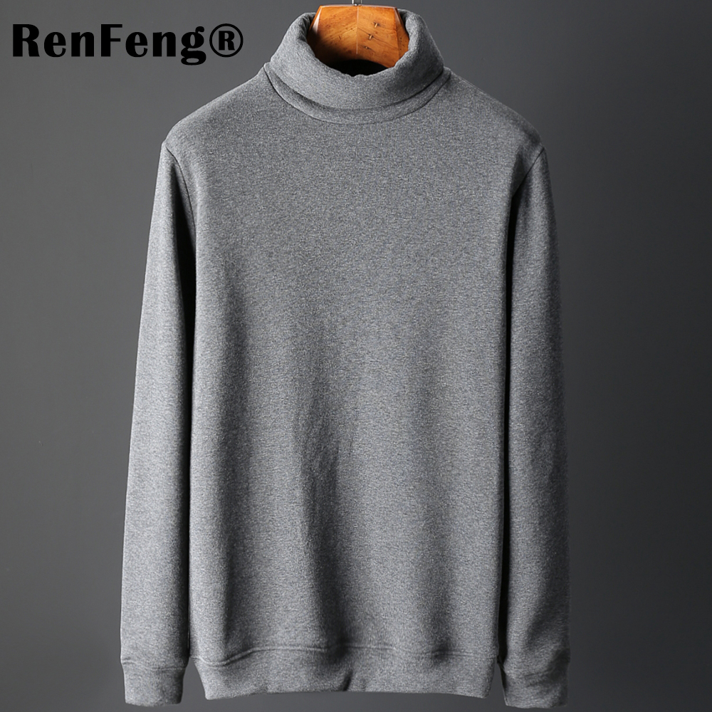 Men's Fashion Winter Men Slim thermo Long Sleeve T shirt Thicken Flannel Thermal Underwear Basic Tops Turtleneck Undershirt Male (13)