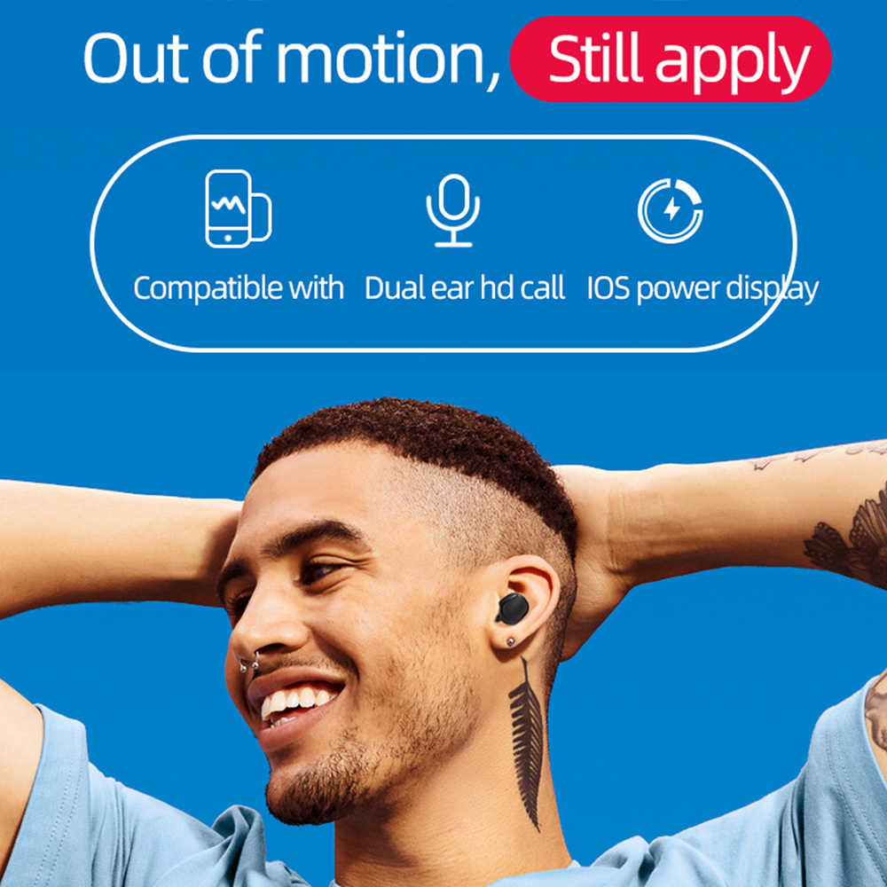 A6S TWS Bluetooth гарнитуры наушники стерео бас Bluetooth 5,0 для Redmi Airdots Eeadphones с микрофоном Handsfree наушники для телефона