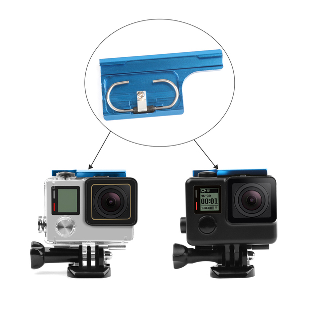 SHOOT Aluminum Alloy Latch Rear Snap Lock Buckle Clip for GoPro Hero 4 3+ Black Silver Waterproof Case Mount for Gopro Accessory
