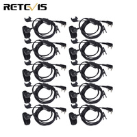10pcs 2 Pin Earpiece Finger PTT For Kenwood Retevis H777 RT3 RT5R Baofeng UV 5R PUXING Walkie Talkie C9047A