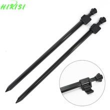2 x Carp Fishing Bank Sticks Rod Pod 30-44cm Strong Aliminium Banksticks for Buzz Bar Carp Coarse Fishing