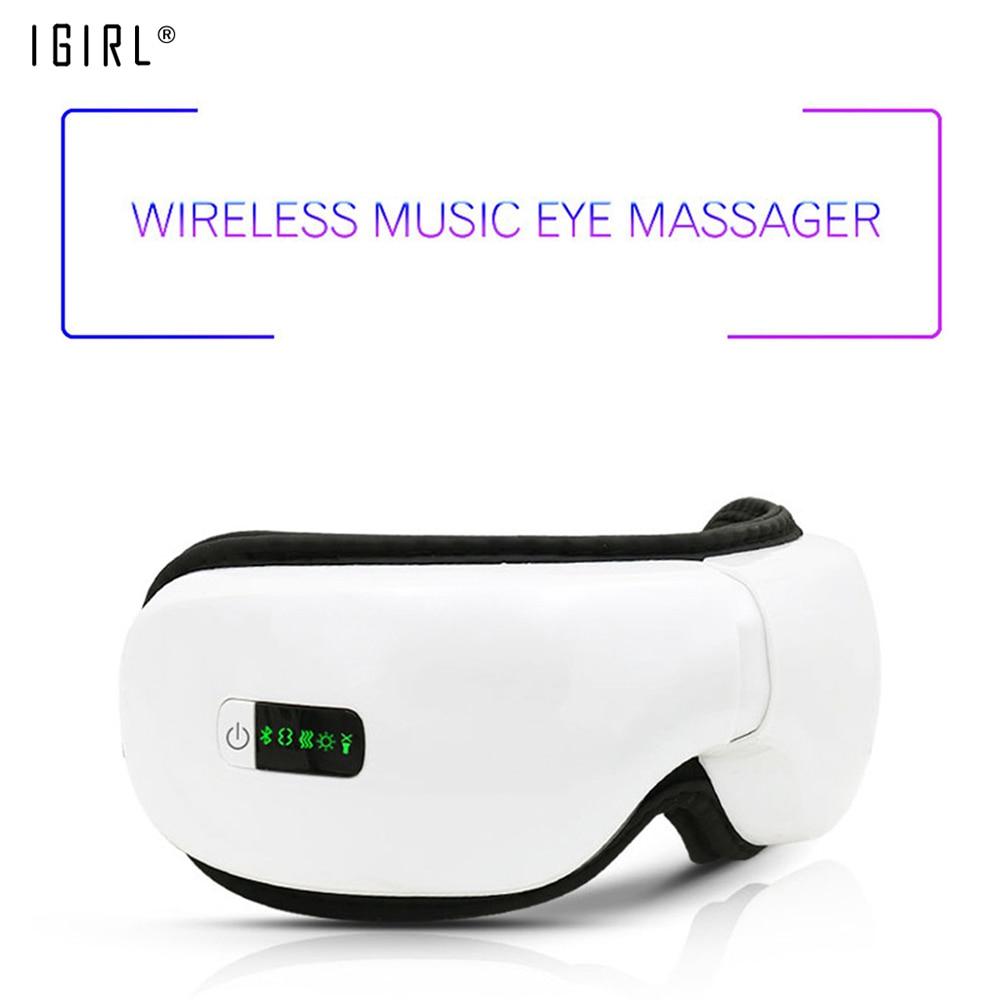Pression d'air électrique yeux masseur Instrument musique sans fil Vibration