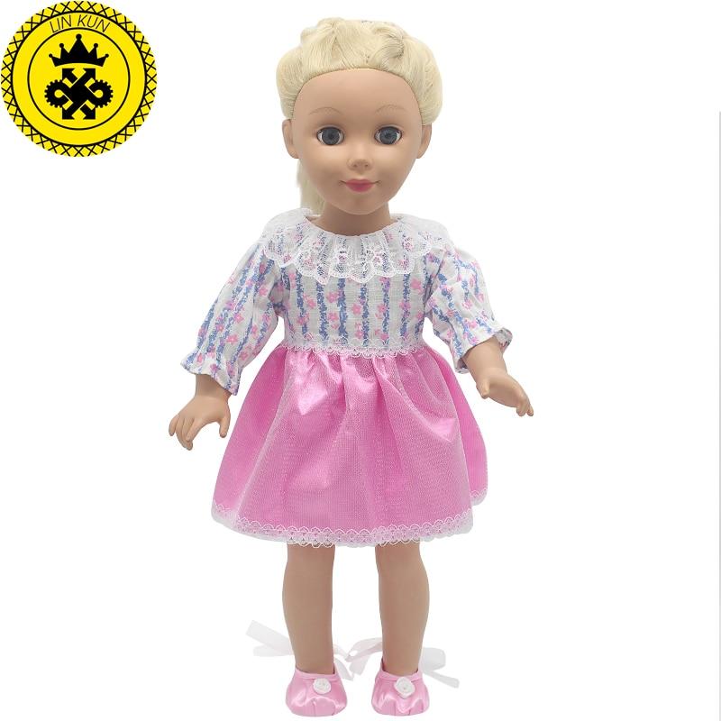 ᐅLin Kun Rosa princesa vestido American Girl Doll ropa para 18 ...