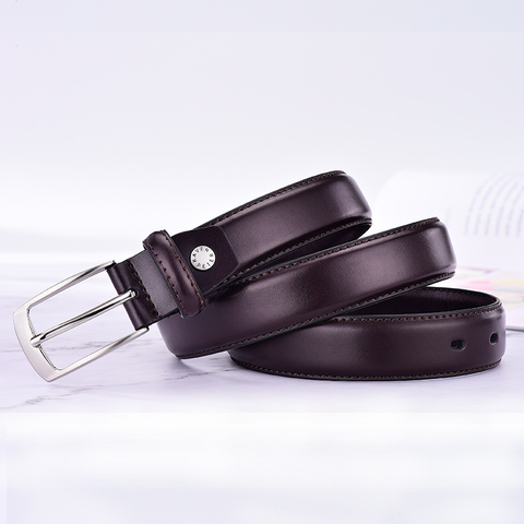 Classic Leather Belt For Men Luxury Business Male Cowhide Leather Belts 3.0 CM Casual Pin Buckle Belt For Men Dropshipping Multan