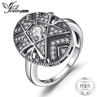JewelryPalace Star 1 0ct Cubic Zirconia Filigree Ring 925 Sterling Silver Rings For Women Fashion Jewelry