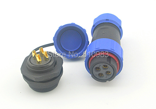 4 Pin M21 Waterproof Connector Dustproof Aviation Reverse male female Plug and socket XLR Cable Connector suit for 7-12MM cable diy 12mm 5 pin aviation plug socket connector black