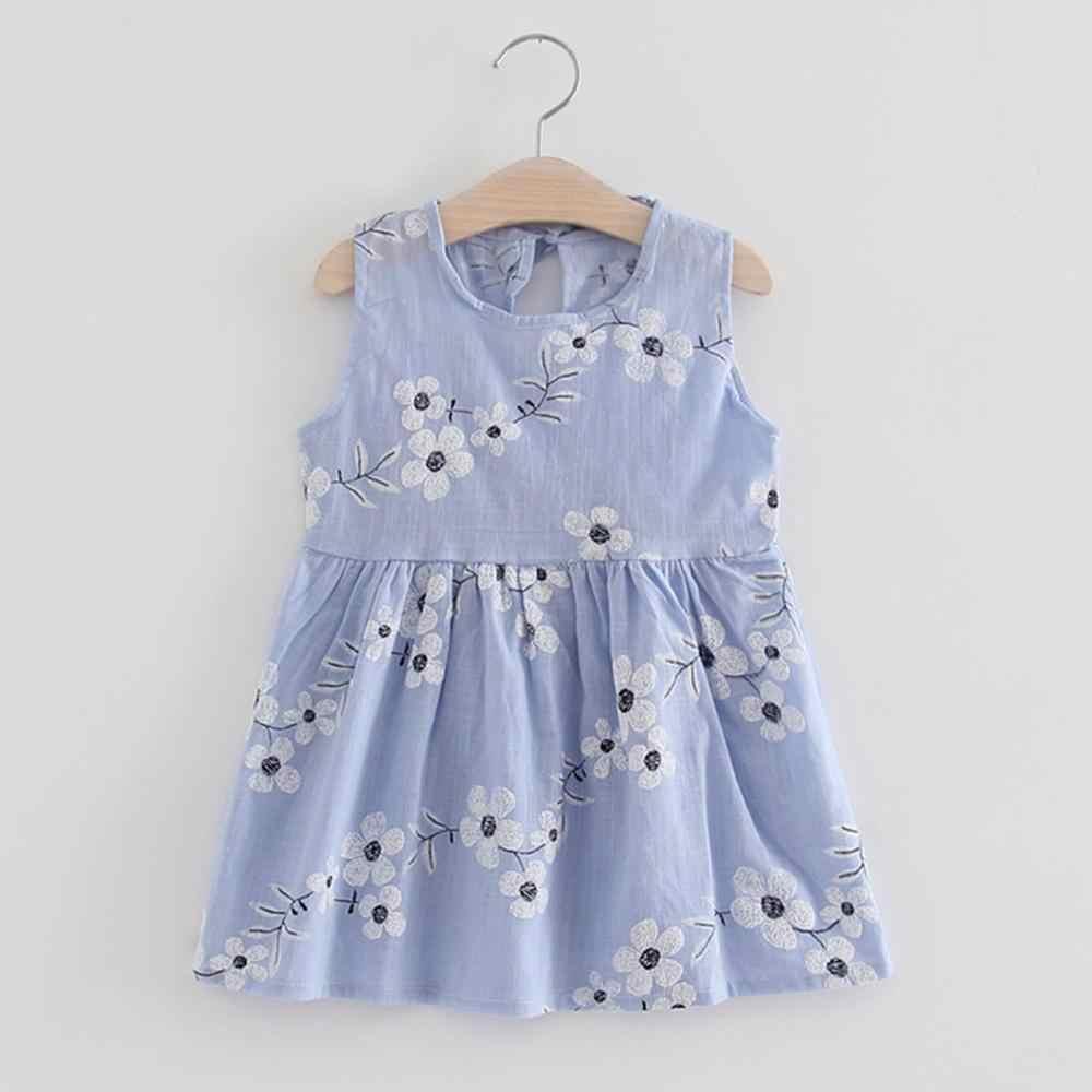2019 crianças Da Criança Do Bebê Meninas Vestidos de Princesa roupas de Verão Vestido de Festa de Casamento Sem Mangas Vestidos da menina Do Bebê Dos Miúdos do traje