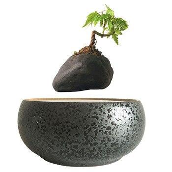 Pot de fleur en céramique style japon magnétique lévitation Flottant