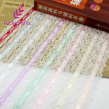 Conjunto de 30mm de colores variados de material de poliamida, hilos de encaje unidos, encaje bordado 3y/8y P0516