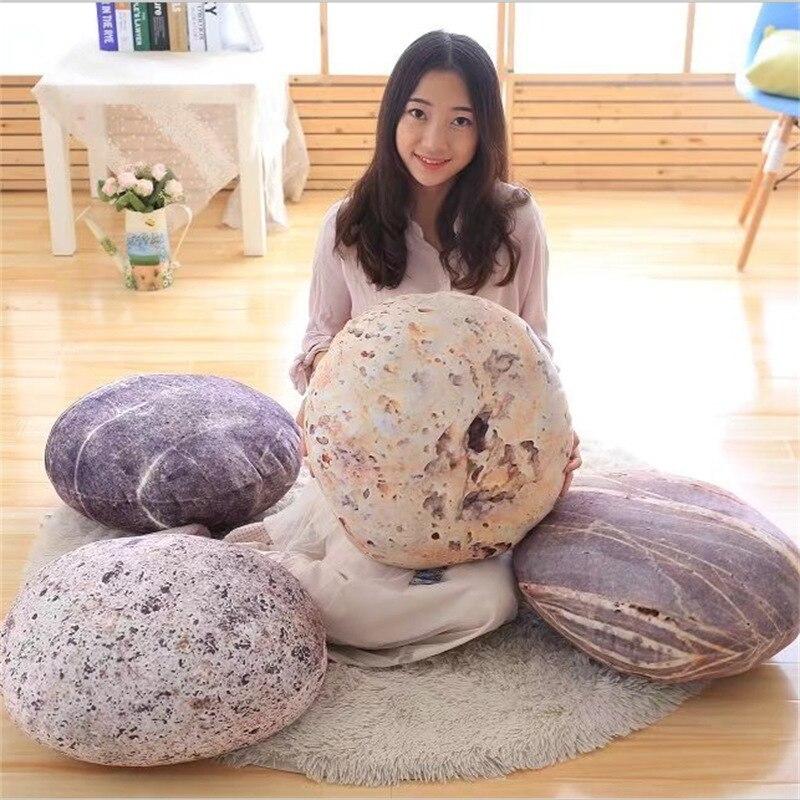 Huge Large 3D Cobblestone Living Stone Shape Pillow Cushion Plush Toy Home Decor