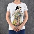 T-shirt Princess Dance Dress Print Cartoon t shirt women o-nek short sleeve tee shirt femme summer tops camisas femininas 2016