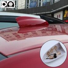 Super shark antenna radio aerials for Renault Clio Megane Captur Kadjar Scenic Fluence Laguna Koleos Duster Logan accessories 2017 new car styling auto led shark fin for renault megane 2 3 duster logan captur 2016 laguna 2 clio fluence kadjar accessories