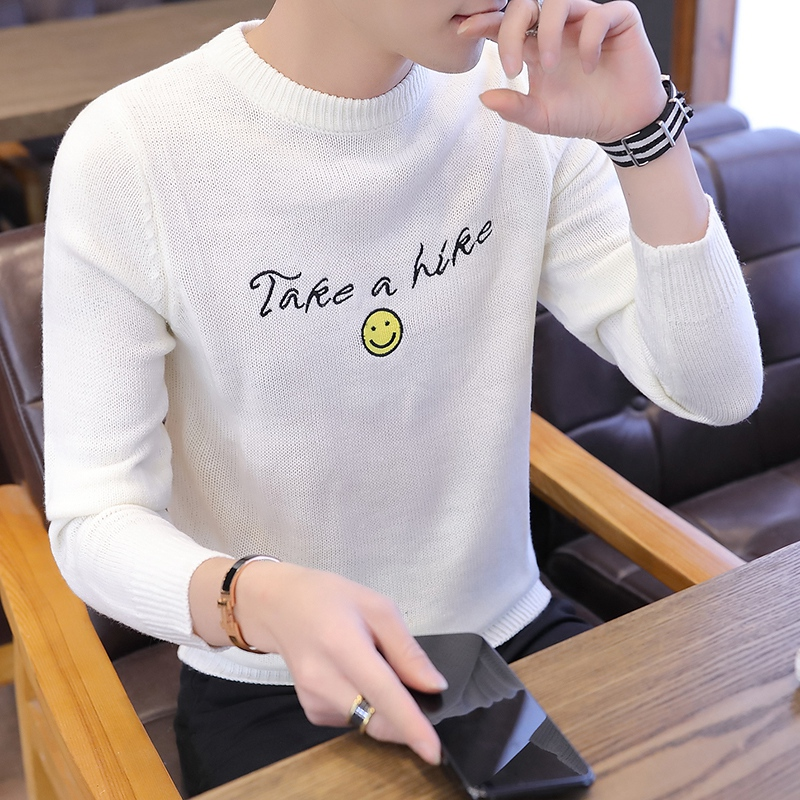 Sweaters Men's Fashion, Round-collar, Handsome And Thicker Long Sleeves Of Men's Knitted Sweaters In Autumn And Winter Of 2019