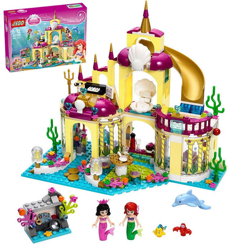 402pcs Mermaid Princess Undersea Palace Compatible With Lego Diy Building Blocks Kit Toys Christmas Gifts Relieving Heat And Sunstroke Rational Girl Gifts ! Model Building