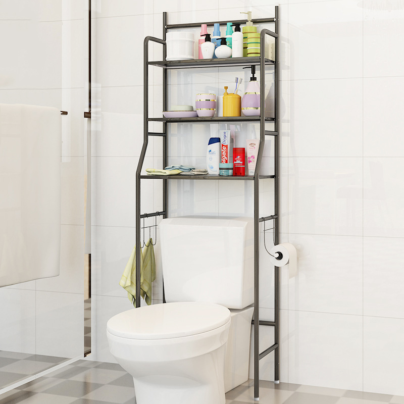 Bathroom Shelves Storage rack Stainless steel Floor Type Simple Assembly can be removed move washing machine Shelf furnitureBathroom Shelves Storage rack Stainless steel Floor Type Simple Assembly can be removed move washing machine Shelf furniture