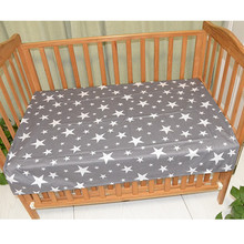 100% Cotton Baby Flat Sheet Soft Baby Bed Mattress Cover Protector Cartoon Newborn Bedding For Cot Size 130*70cm