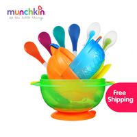 Munchkin Stay Put Suction Bowls 3pk Silicone Spoons Assorted Pack Of 2 White Hot Spoons 4pk