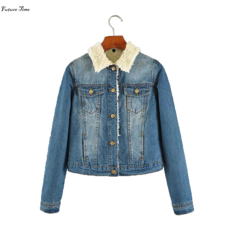 Future Time Women   jacket   long sleeve boyfriend jeans   jacket   casaco jeans slim denim woman   basic     jacket   feminino outwear C1395
