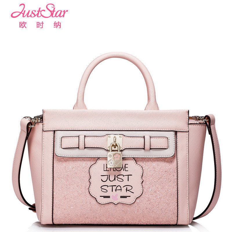 Just Star Bag Women Handbag Designer Handbags High Quality PU Crossbody Bags with Metal Locks Girls Sequined Small Totes star wars high quality pu leathe with