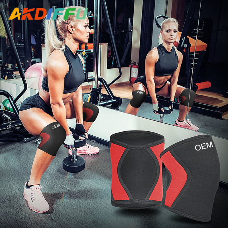 KNEE PADS FITNESS STRENGTH TRAINING SUPPORT PROTECTOR POWER SQUAT SLEEVE 2 PCS