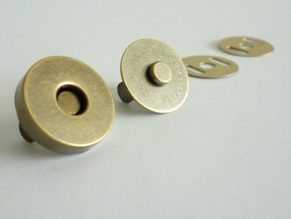 18mm Magnetic snap fasteners antique brass magnetic button bag clasp 200sets/lot 5pcs lot high quality 2 pin snap in on off position snap boat button switch 12v 110v 250v t1405 p0 5
