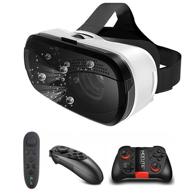 US $21 67 |Terbaru Kacamata Headset dengan Konsol Virtual Reality VR Viewer  untuk Xiaomi Iphone Galaxy Lenovo 3D Imax Kacamata Google Karton di 3D
