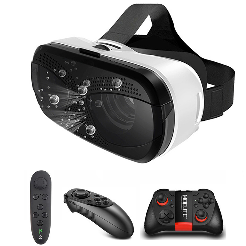 VR Glasses Headset with Controller Virtual Reality Viewer for Video Movies VR 3D Imax Goggles Google Cardboard Virtual Space