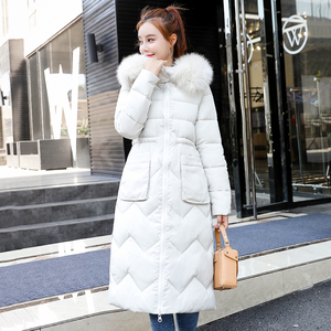 Image 2 - Both Two Sides Can Be Wore 2019 Women Winter Jacket New Arrival With Fur Hooded Long Coat Cotton Padded Warm Parka Womens Parkas
