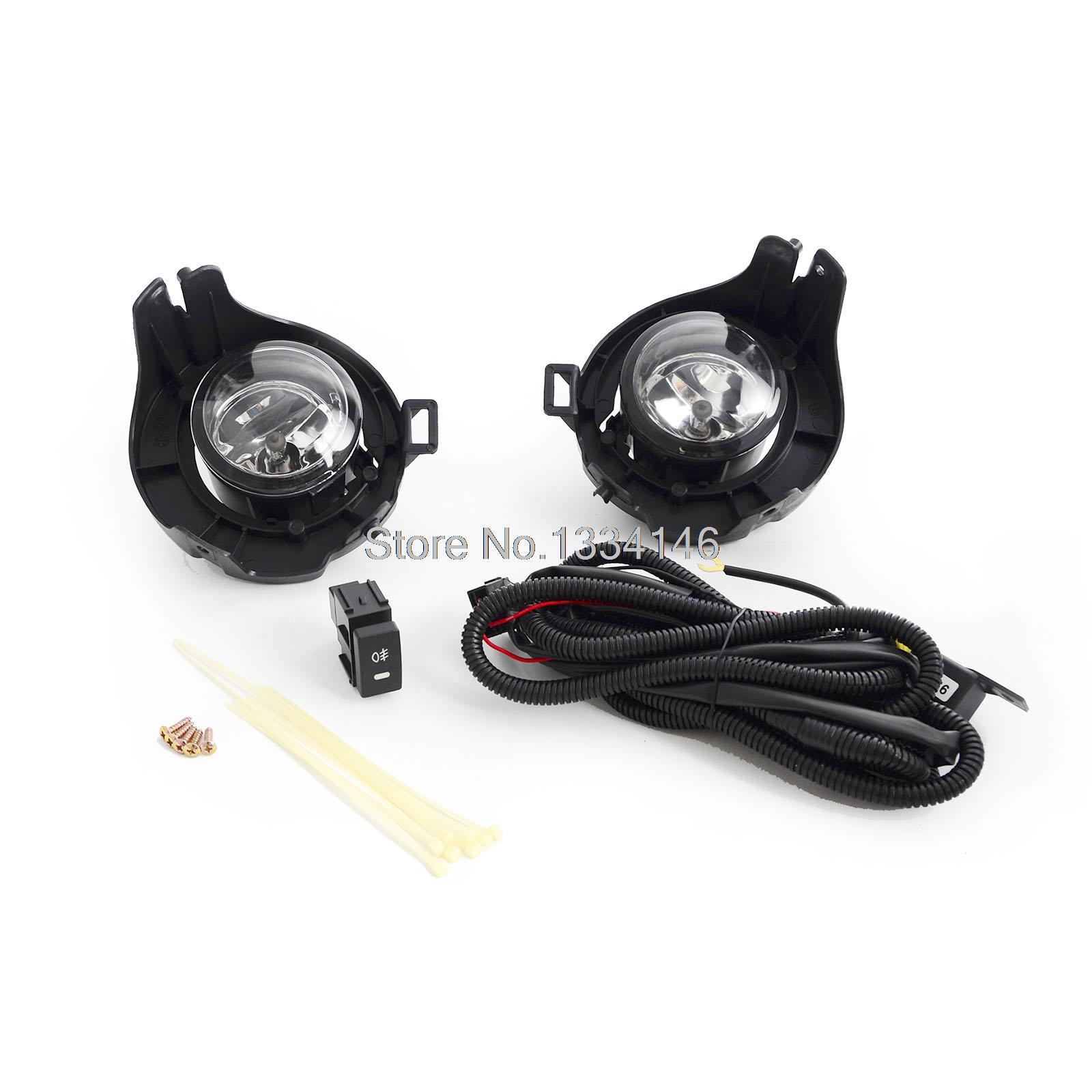 For Nissan NAVARA D40 Driving Fog Lights Lamps Complete Kit 2005 2014
