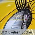 10 unids Blanco Negro Rosa Lindo Car Automotive Pestañas Delineador de coches en 3D Insignia Del Coche Pegatinas Faros EA1007 Estéreo Envío Libre