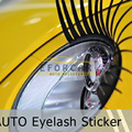 10pcs White Black Pink Cute Car Eyelash Automotive Eyelashes Eyeliner 3D Car Logo Headlight Stickers Stereo Free Shipping EA1007