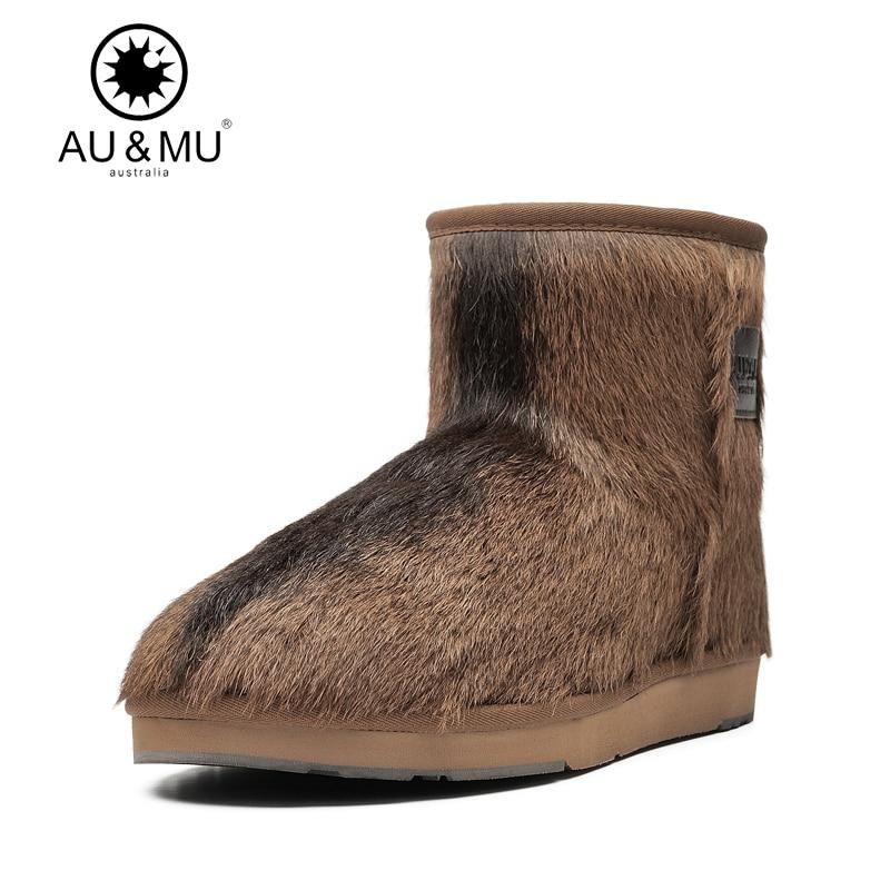 2017 AUMU Australia Classic Shearling Fur Wool Lining Ankle Snow Winter Boots UG N057 2017 aumu australia fashion suede fur