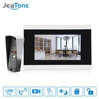 JeaTone Intercom Door Lock System Video Doorbell Hd 7 Touch Screen Doorbell Security Cameras Video Intercom