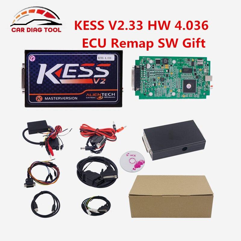 Prix pour Illimité Jetons KESS V2 V2.33 OBD2 ECU Chip Tuning Outil KESS 2 Matériel V4.036 Maître Version Professionnel ECU Programmeur