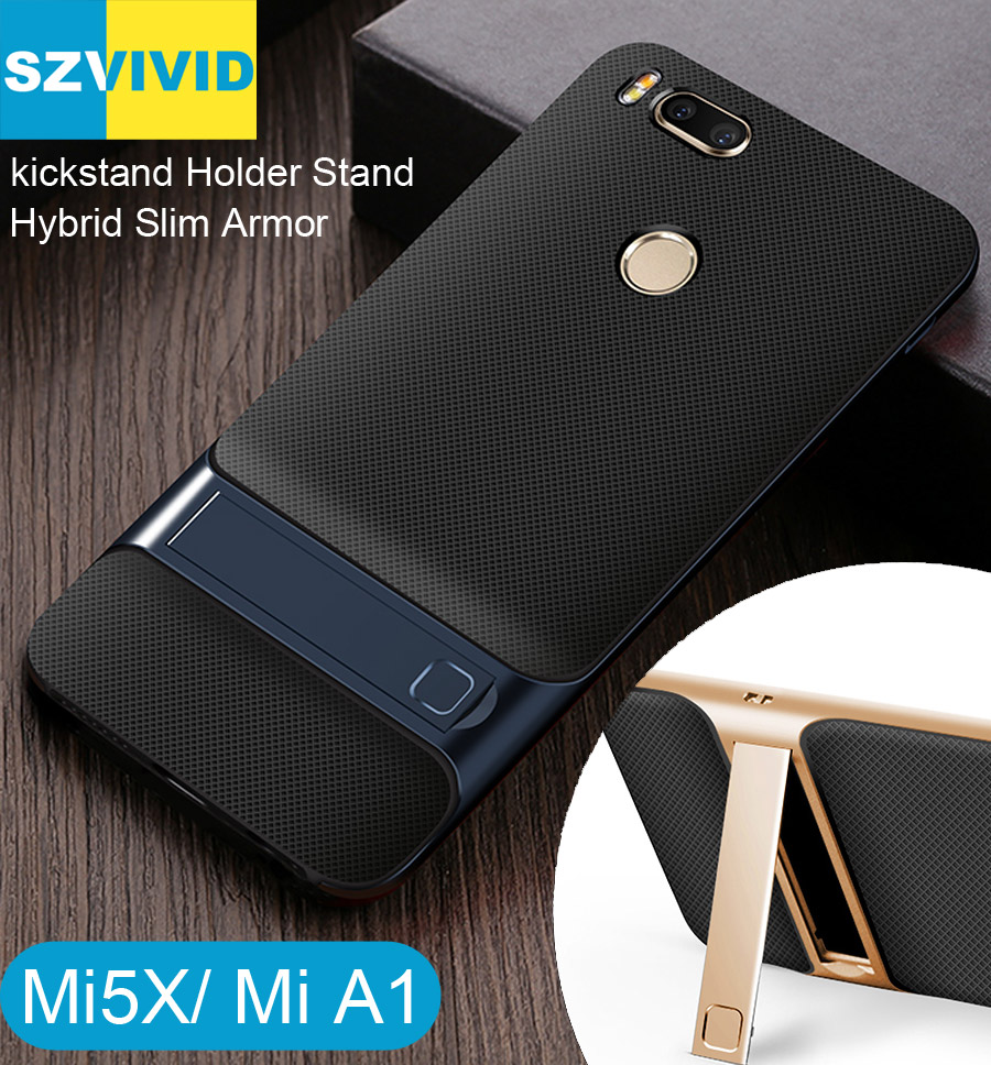 Stand Holder Kickstand Case for Xiaomi Mi5X Mi A1 Hybrid Slim Armor Protector Cover