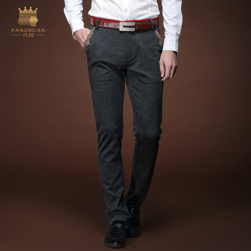 Free Shipping New Fashion Male Men's Casual Personality Trousers Spring Business Slim Long Pants Influx Straight Jeans 15801