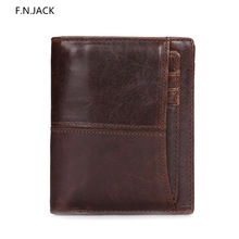 F.N.JACK Classic Style Wallet Genuine Leather Men Wallets Short Male Purse Card Holder Fashion High Quality money bag