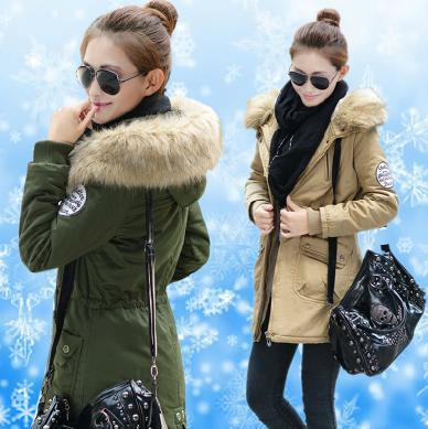 ФОТО XXXXLWinter Parkas Plus Size Woman Maxi Winter Wadded Jacket Military Fur Collar Thick Cotton Maxi Coat Zipper Slim Warm Parka