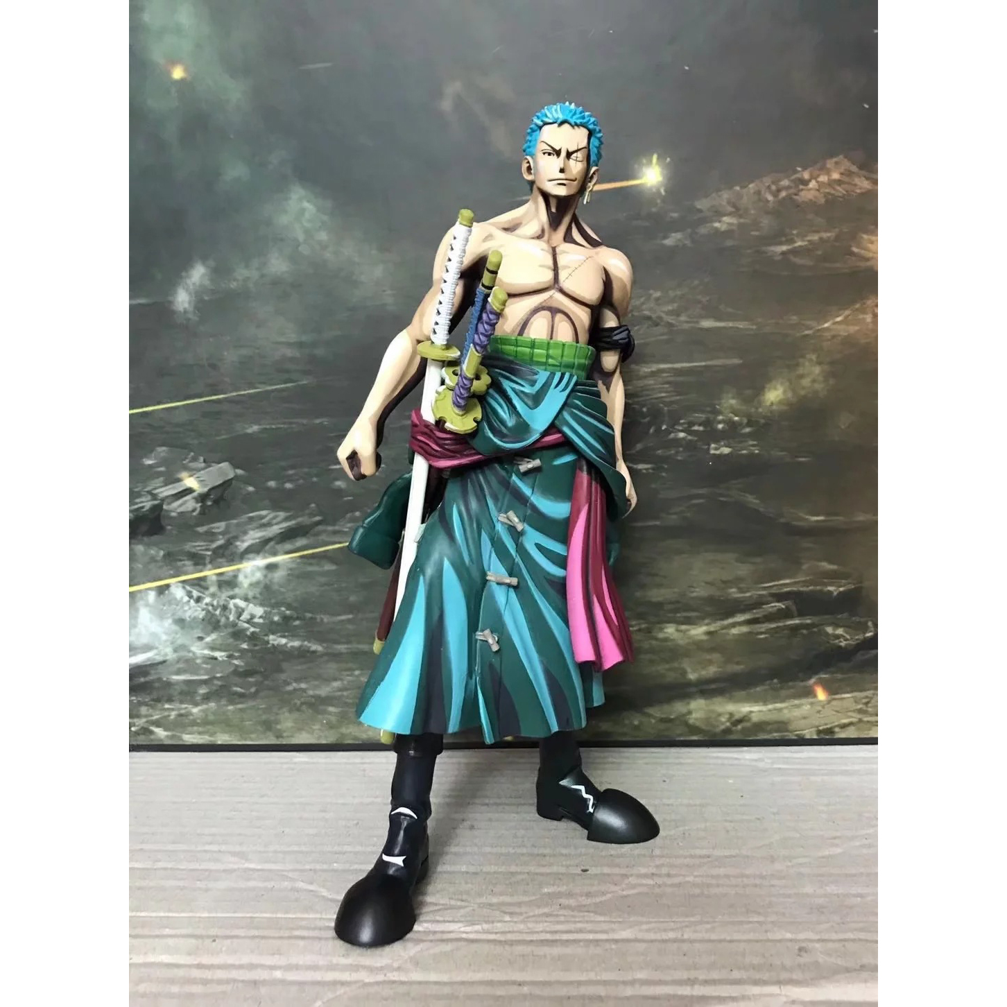 XINDUPLAN One Piece Anime Roronoa Zoro MSP Color comic Onepiece New World Action Figure Toy 25cm PVC Kid Gift Collect Model 1108 one piece action figure roronoa zoro led light figuarts zero model toy 200mm pvc toy one piece anime zoro figurine diorama