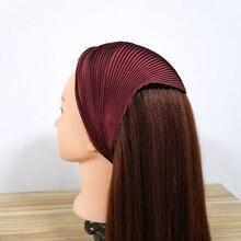 Итальянский плиссированный твердый шарф шелковый атлас головной убор дизайн стильная бандана Ассорти мнущийся платок