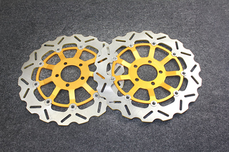 Gold Motorcycle Front Brake Disc Rotors For ZZR 1200 C1H/C2H 2002-2004 Universel
