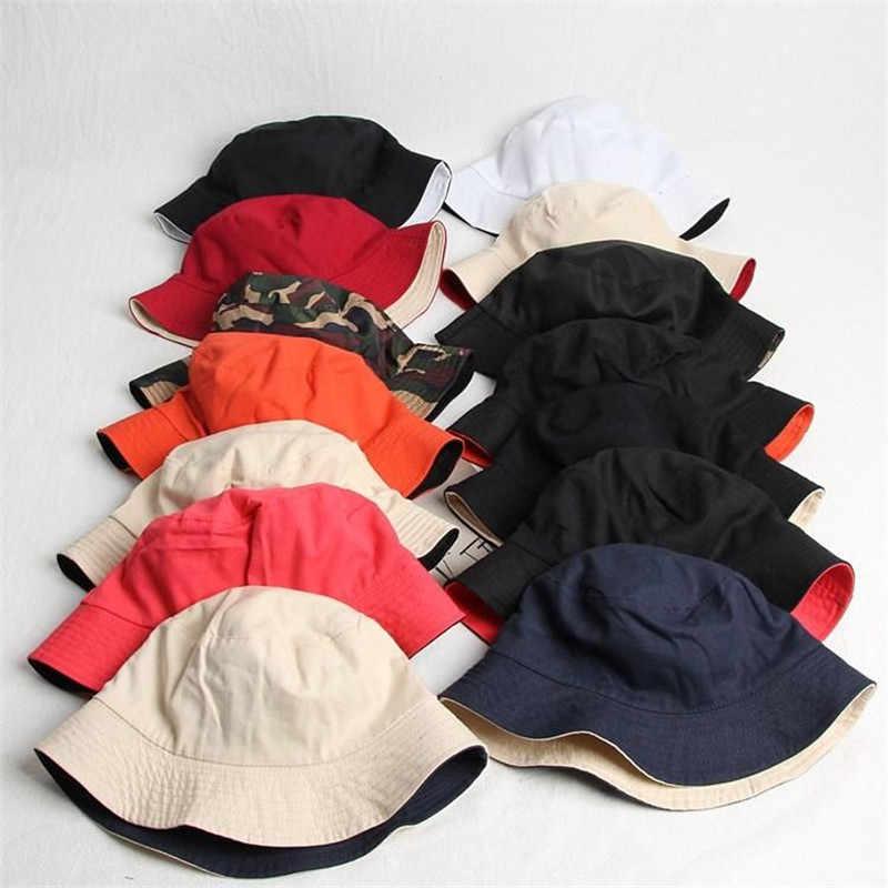 Chapeau seau Double face solide 2019   Chapeau de pêcheur, chapeau de voyage en plein air, casquette solaire, chapeaux pour hommes et femmes, 282