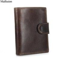 Maillusion Men Wallet Genius Leather Portfolio Brand Designers Hasp Male Clutch Passcard Money Pocket Large Capacity