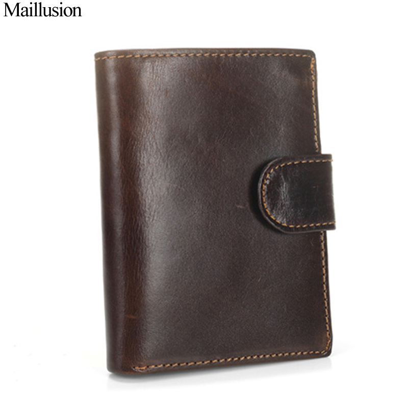 Maillusion Men Wallet Genius Leather Portfolio Brand Designers Hasp Male Clutch Wallets Money Pocket Large Capacity Coin Purses banlosen brand men wallets double zipper vintage genuine leather clutch wallets male purses large capacity men s wallet