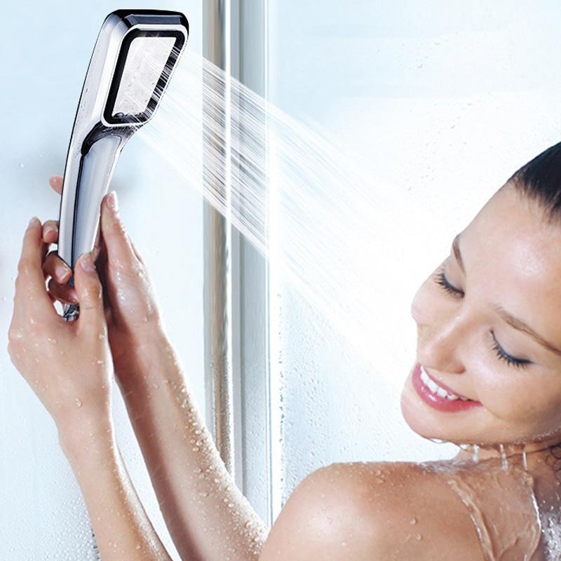 1PCS под налягане вода спестяване на душ главата баня ръце душ душ бустер душ главата кран аксесоари за баня високо качество