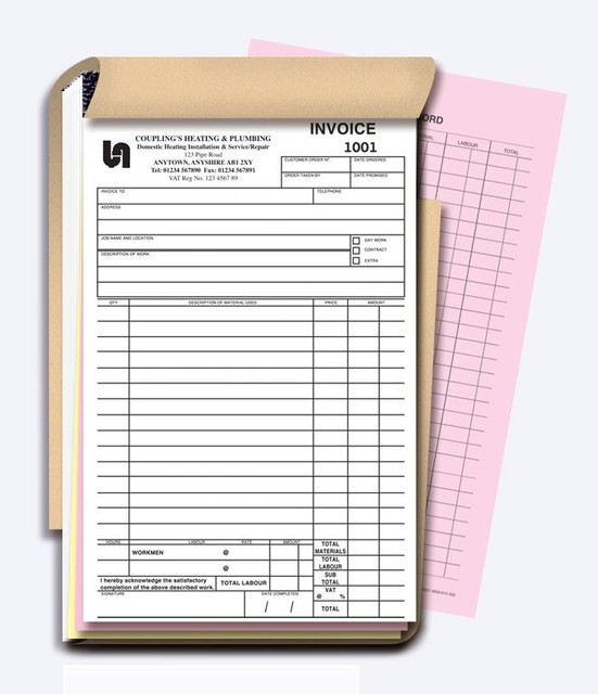 Custom A Carbonless Receipt Invoice Book NCR Quote Books Duplicate - Custom carbon paper invoices
