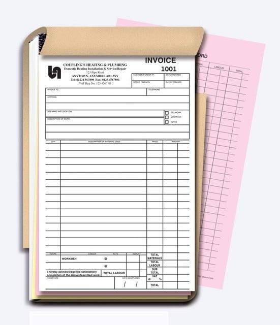 Custom A Carbonless Receipt Invoice Book NCR Quote Books Duplicate - Custom invoice book