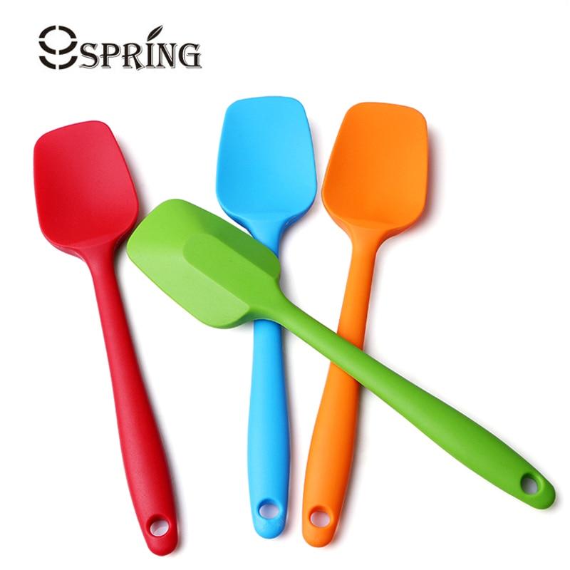 Colorful Kitchen Silicone Spatula Rubber Baking Scraper Mixer Non